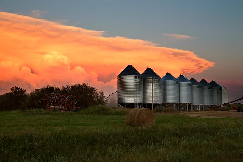 Storm Clouds Saskatchewan sunset