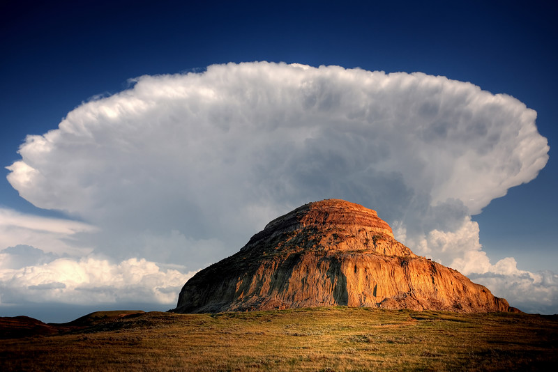 Castle Butte in Big Muddy Valley of Saskatchewan