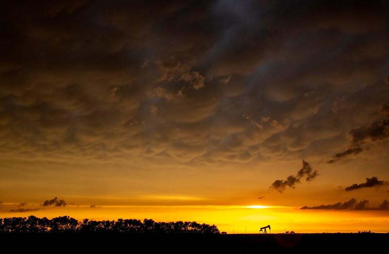 Prairie Storm Clouds Sunset