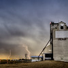 Storm Clouds Canada Grain Elevator