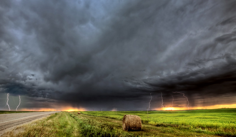 Storm clouds over Saskatchewan
