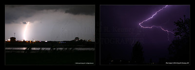 Lightning Photography taken during the early morning hours on Tuesday, April 29th, 2014 in Phenix City, Alabama. Photography By: Lloyd R. Kenney III ©2014 The Cajun. All Rights Reserved. Contact Info: LloydKenneyiii@gmail.com  Photo on the left was taken with the Canon Digital Rebel using the kit lens.  Photo on the right was taken with the Canon 7D using the Canon 24-70 2.8L Lens.