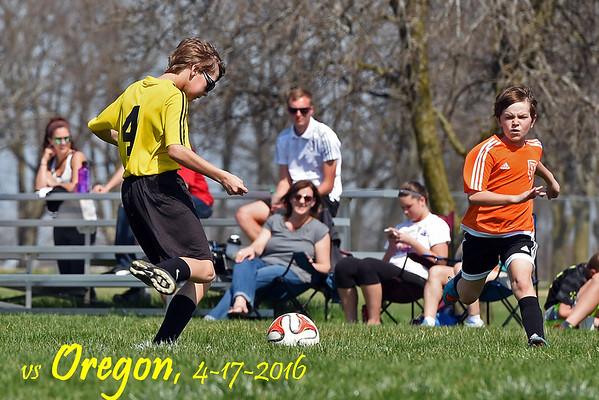 vs Oregon, 4-17-2016