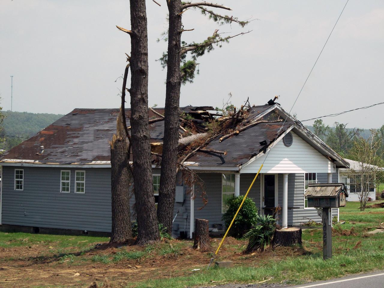 Vilonia, Arkansas, Destruction
