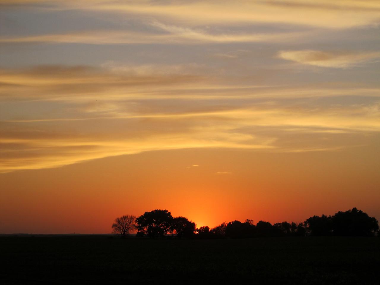 Silhouetted South Dakota Sunset