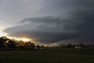 Structured Supercell at Sunset
