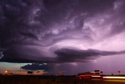 Electric Supercell after Sunset