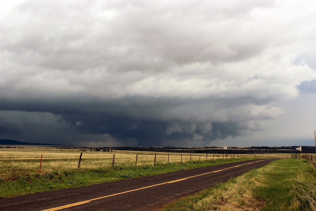 Large Wall Cloud near Watrous, New Mexico