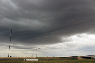 Elevated Storm near Groom, Texas