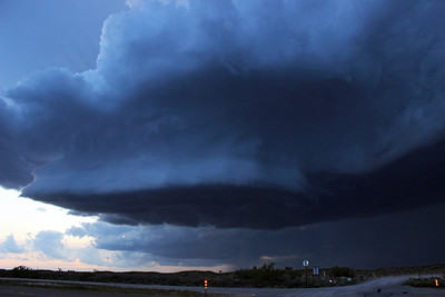 New Mexico Supercell at Blue Hour