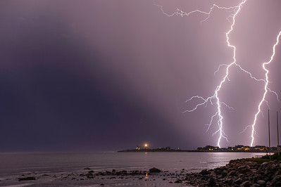 Lightning over Point Judith 1