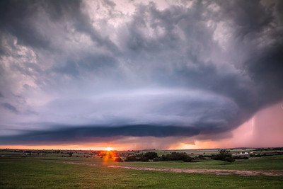 Sunset Lit Supercell