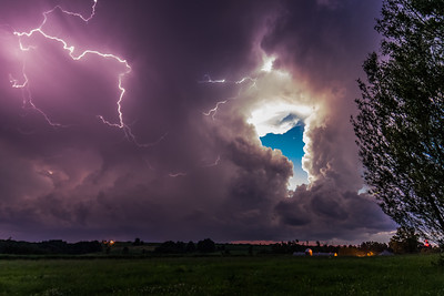 Thunderstorm, Stark Farms, Wisconsin