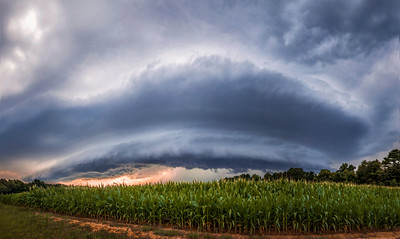 Mothership Above the Corn