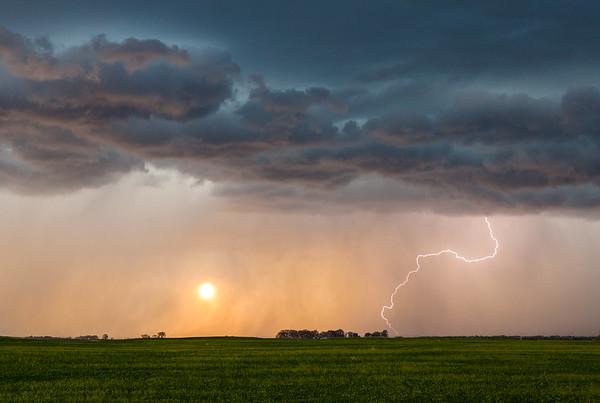 Sunset behind Lightning