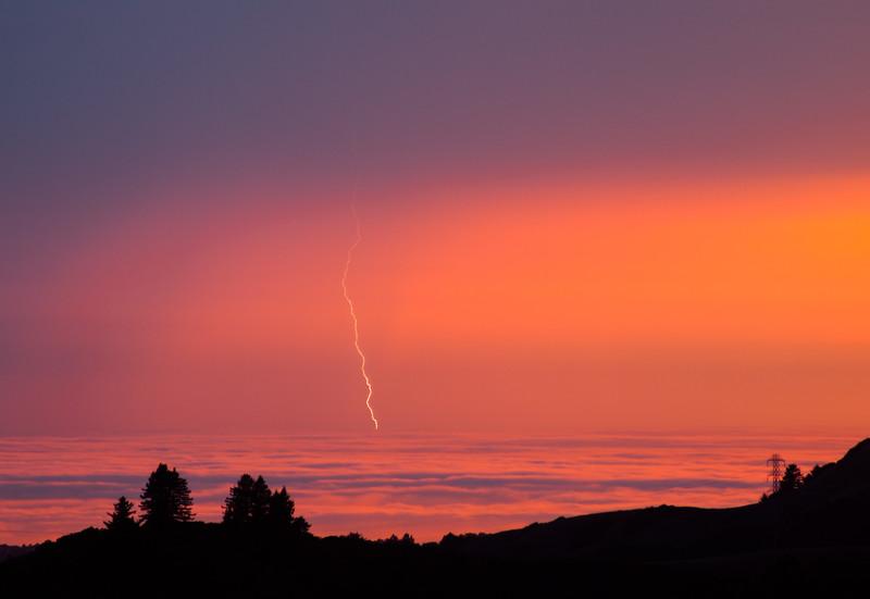 Pacific Sunset Lightning