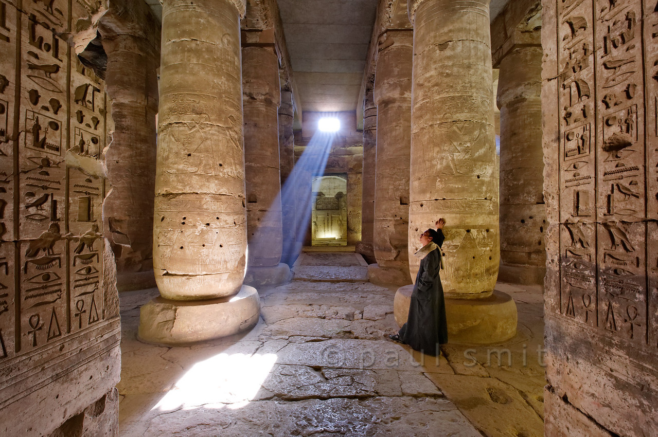 [Egypt 29855] 'Second Hypostyle Hall of Seti I Temple at Abydos.'
