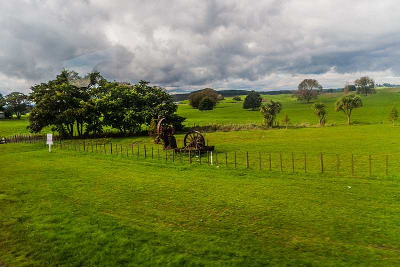 Landscapes on South bound national highway NH1 from Auckland in New Zealand