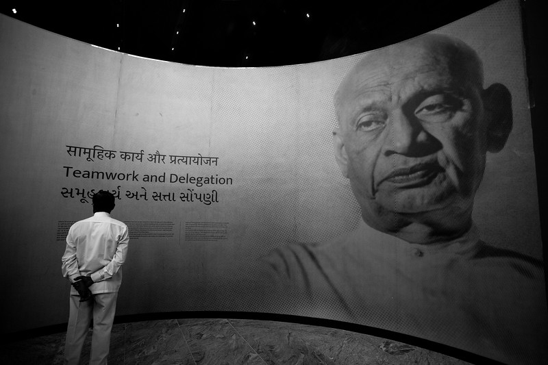 Museum inside Statue of Unity, Kevadia, Gujarat, India