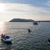 Water activities near the Miramar beach in Goa