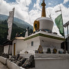 Monastery in the village Bagori in the Garhwal Himalayas of Uttrakhand