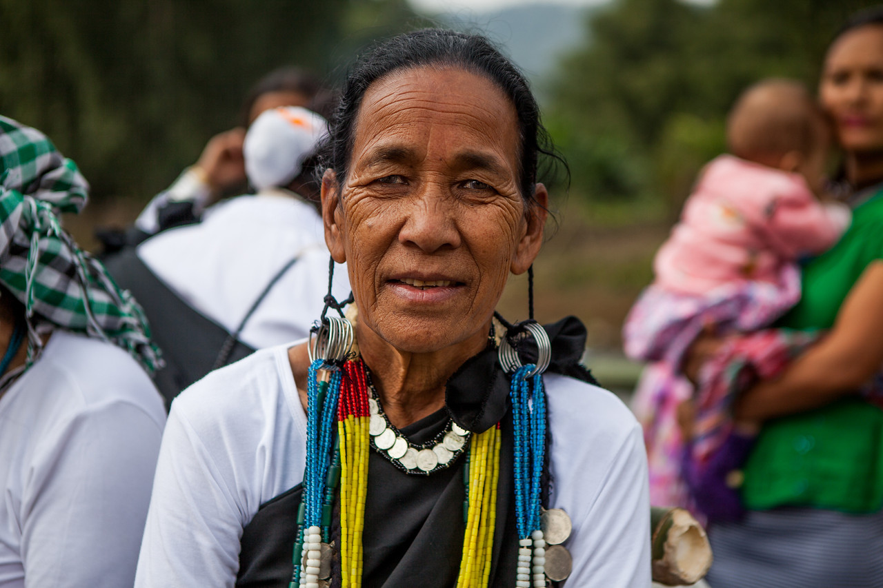 Galo woman at the Basar Confluence, BasCon, Basar, Arunachal Pradesh, India