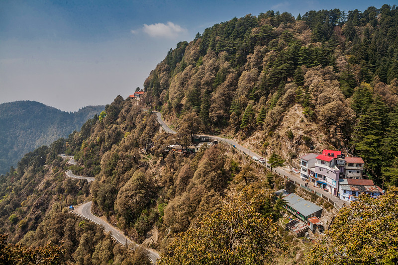 View from Rockvilla in Jabarkhet near Landour, Uttarakhand