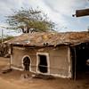 Huts in the village of Hodko in the Kutch region of Gujarat, India