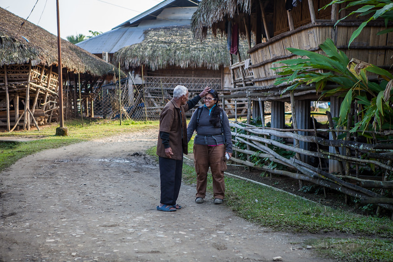 Blessings from Galo old man, Arunachal Pradesh, India