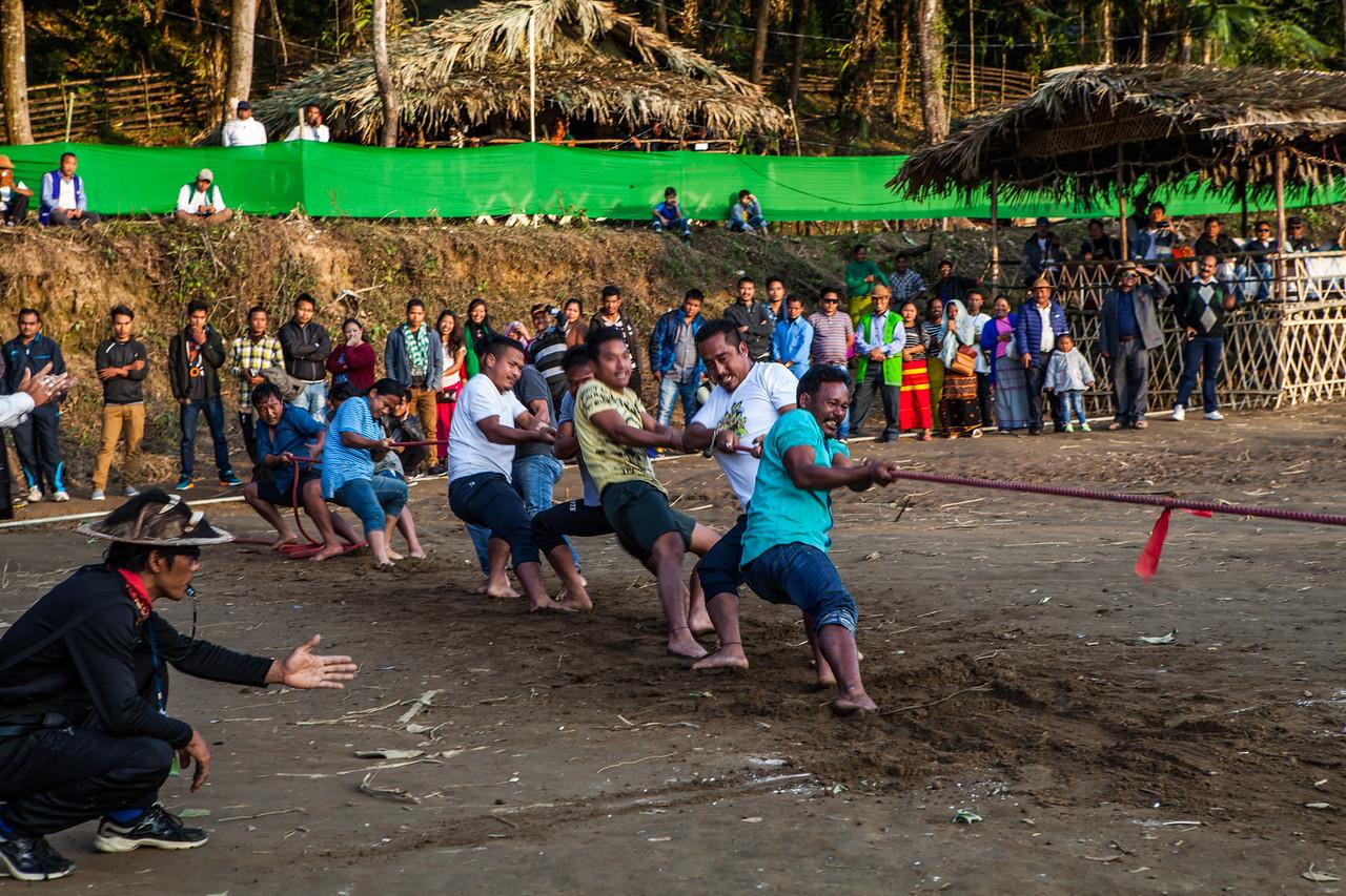 Traditional sports at the Basar Confluence, BasCon, Basar, Arunachal Pradesh, India