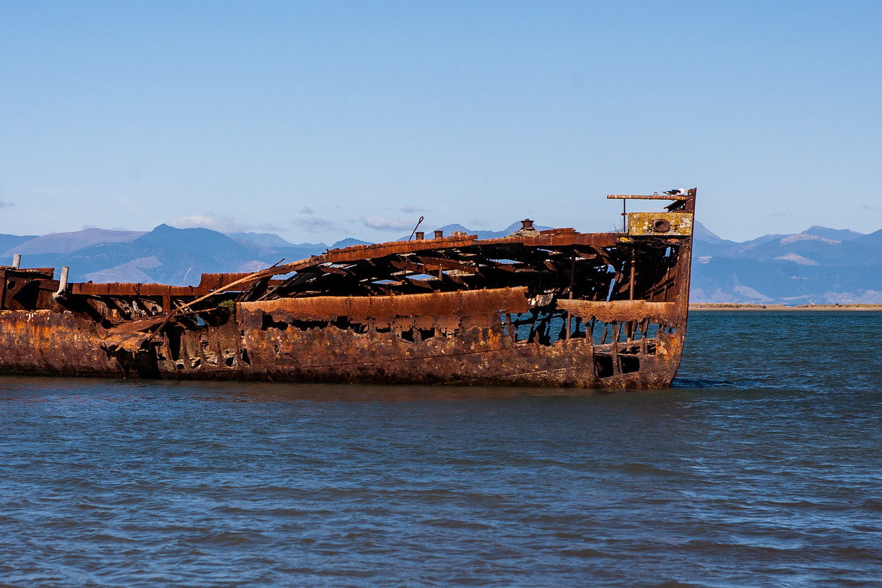 Shipwreck, Motueka, New Zealand