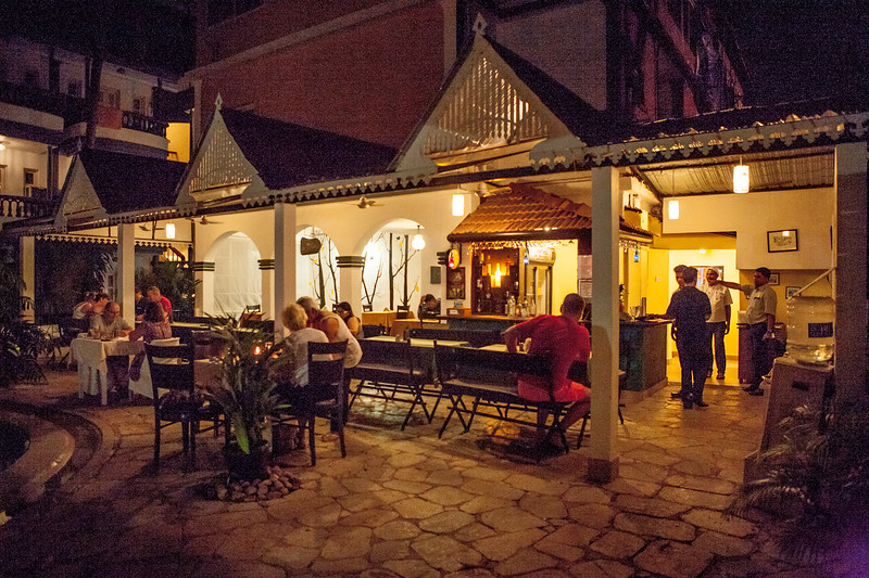 Dinner time at the Treebo Santiago Resort in Goa