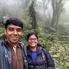 Sandeepa and Chetan on the trek to Dayara Bugyal, a high altitude meadow in Uttarakhand