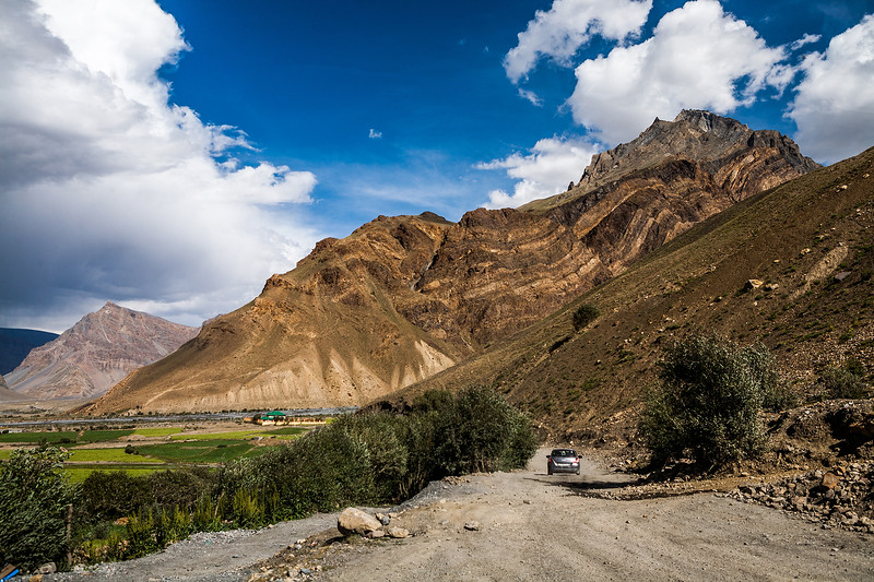Remote villages of Spiti valley on the way from Manali to Kaza