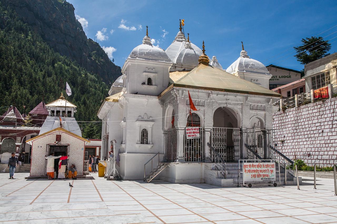 The Gangotri temple, Uttarakhand