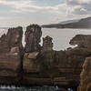 Pancake rocks at Punakaiki on the west coast of the south island, New Zealand