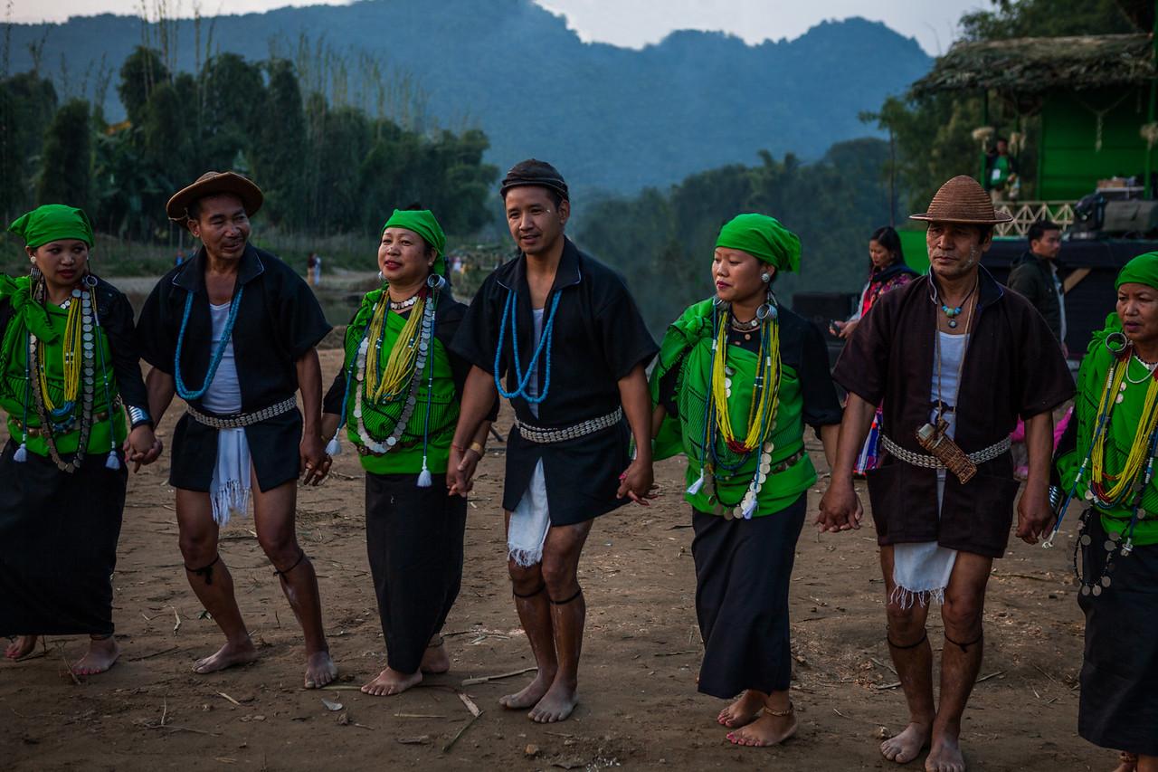 Wedding yaan being sung and performed at the Basar Confluence, BasCon, Basar, Arunachal Pradesh, India