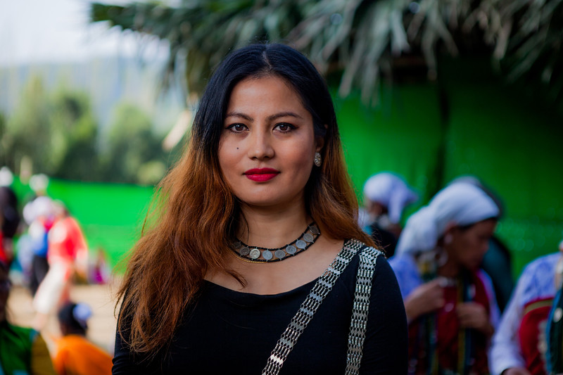 A beautiful Galo girl who was a lead compere for the BasCon, Basar, Arunachal Pradesh, India