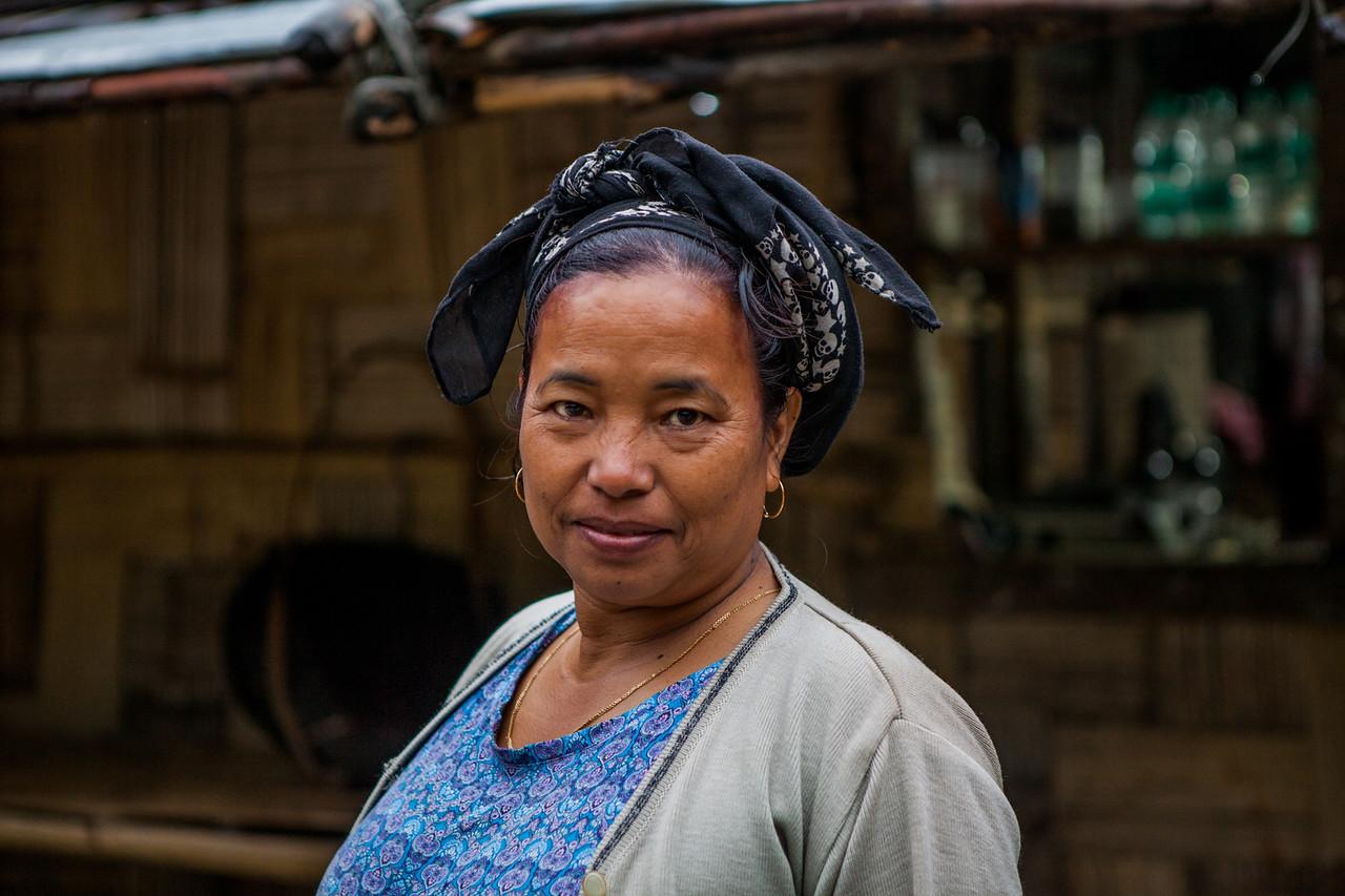 A lady from Village Sago in Basar, Arunachal Pradesh, India