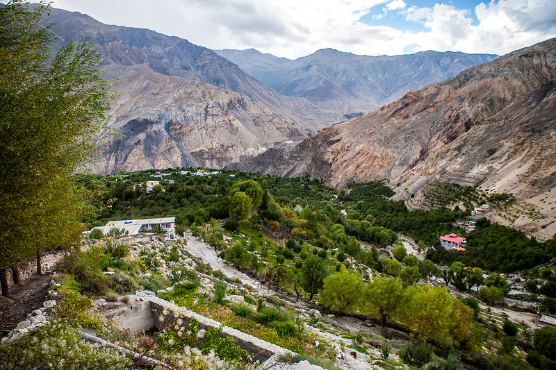 A view from Chango Monastery, Kinnaur, Himachal Pradesh, India