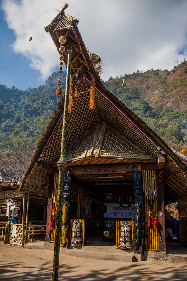 The Morung of the Ao tribe at the Hornbill festival in Nagaland, India
