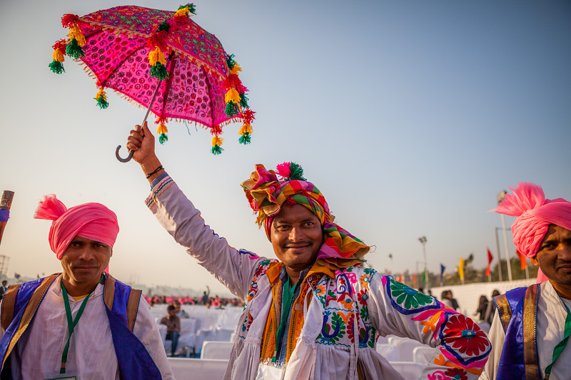 Performers at the International Kite Festival 2019, Ahmedabad, India