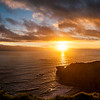Sunset at gannet colony, Muriwai, New Zealand
