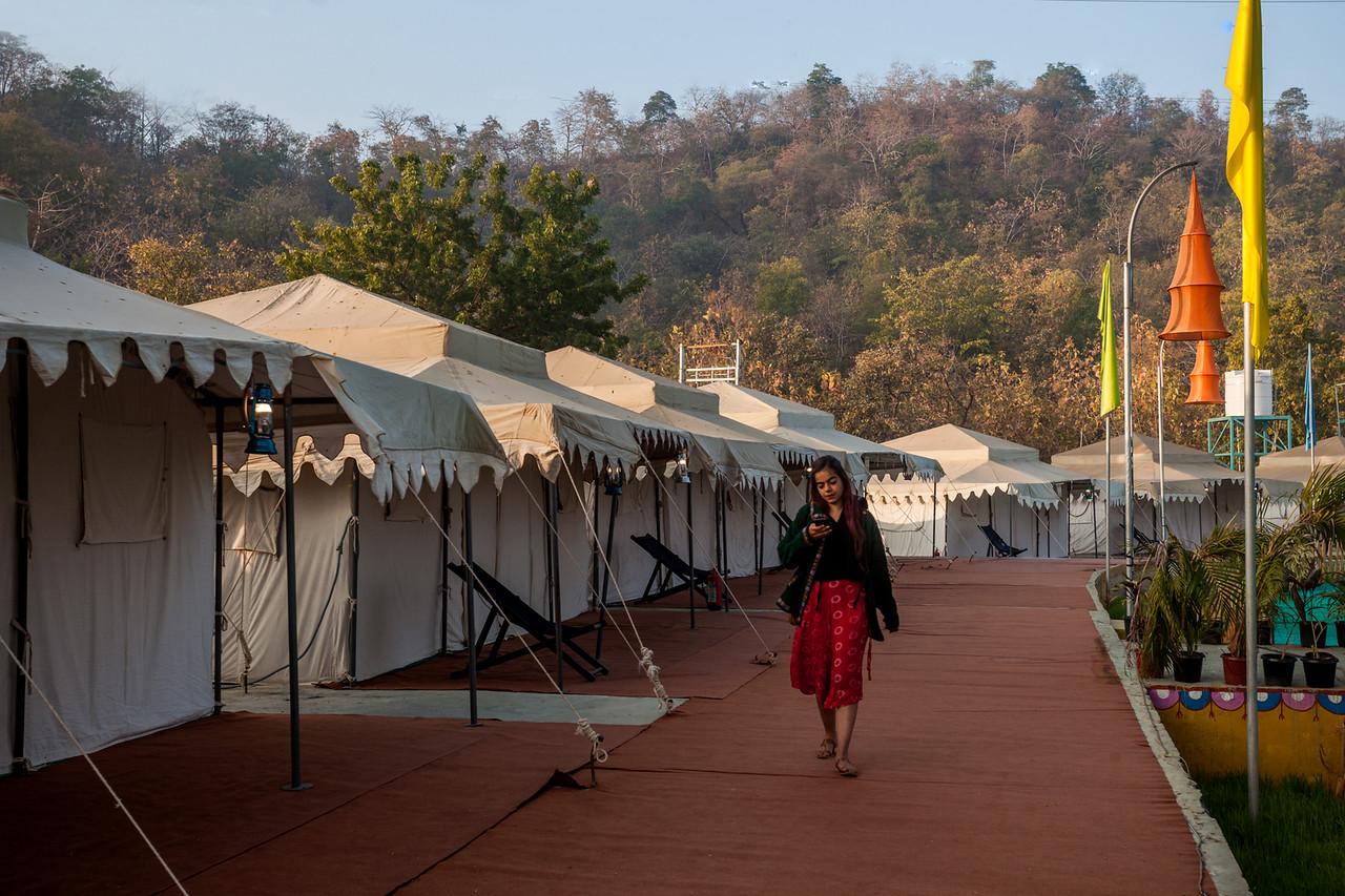 Kevadia tent city, Gujarat, India