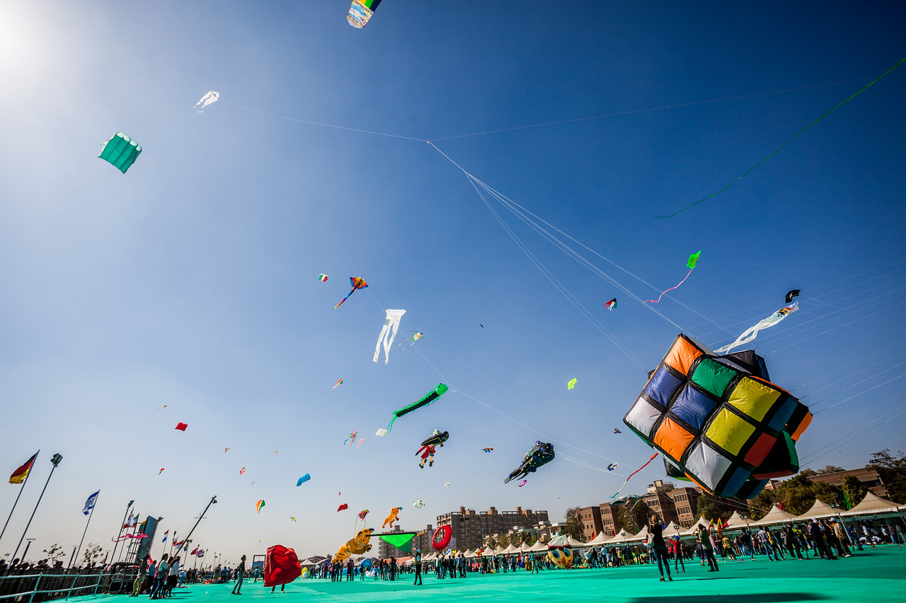 Makar Sankranti Or Uttarayan Indian Festival Of Kites Chinese Kite Template How To Make A Diagram For Innovative In The Shape Rubiks Cube Rises Up At International