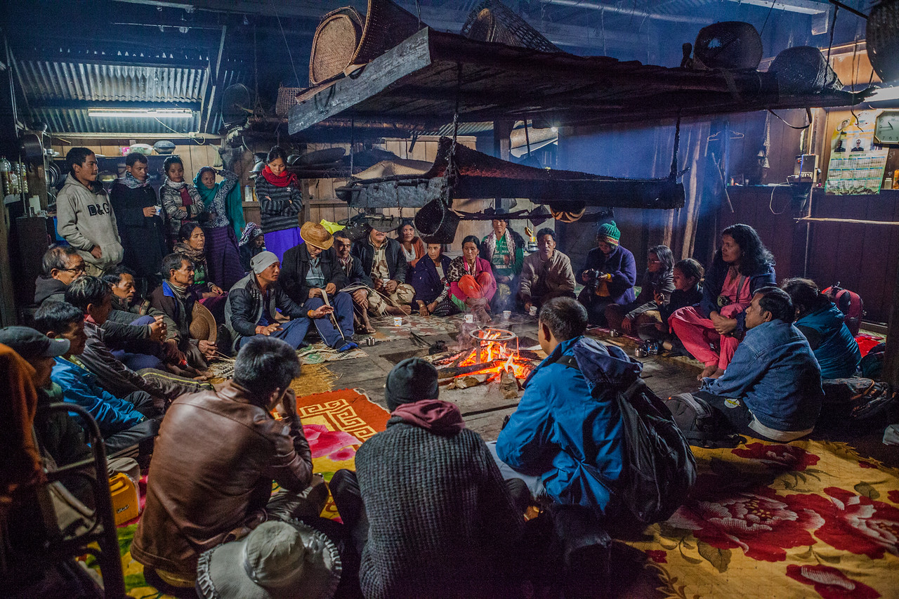 People of Village Sago in Basar, Arunachal Pradesh, India