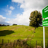 Signage on South bound national highway NH1 from Auckland in New Zealand