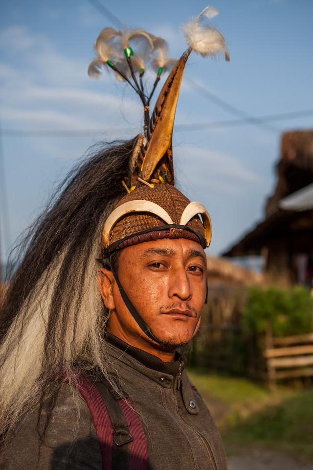 Galo warrior, Arunachal Pradesh, India