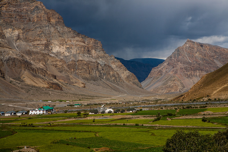 Clouds start to appear as we approach Kaza on the way from Manali to Kaza in the Spiti valley