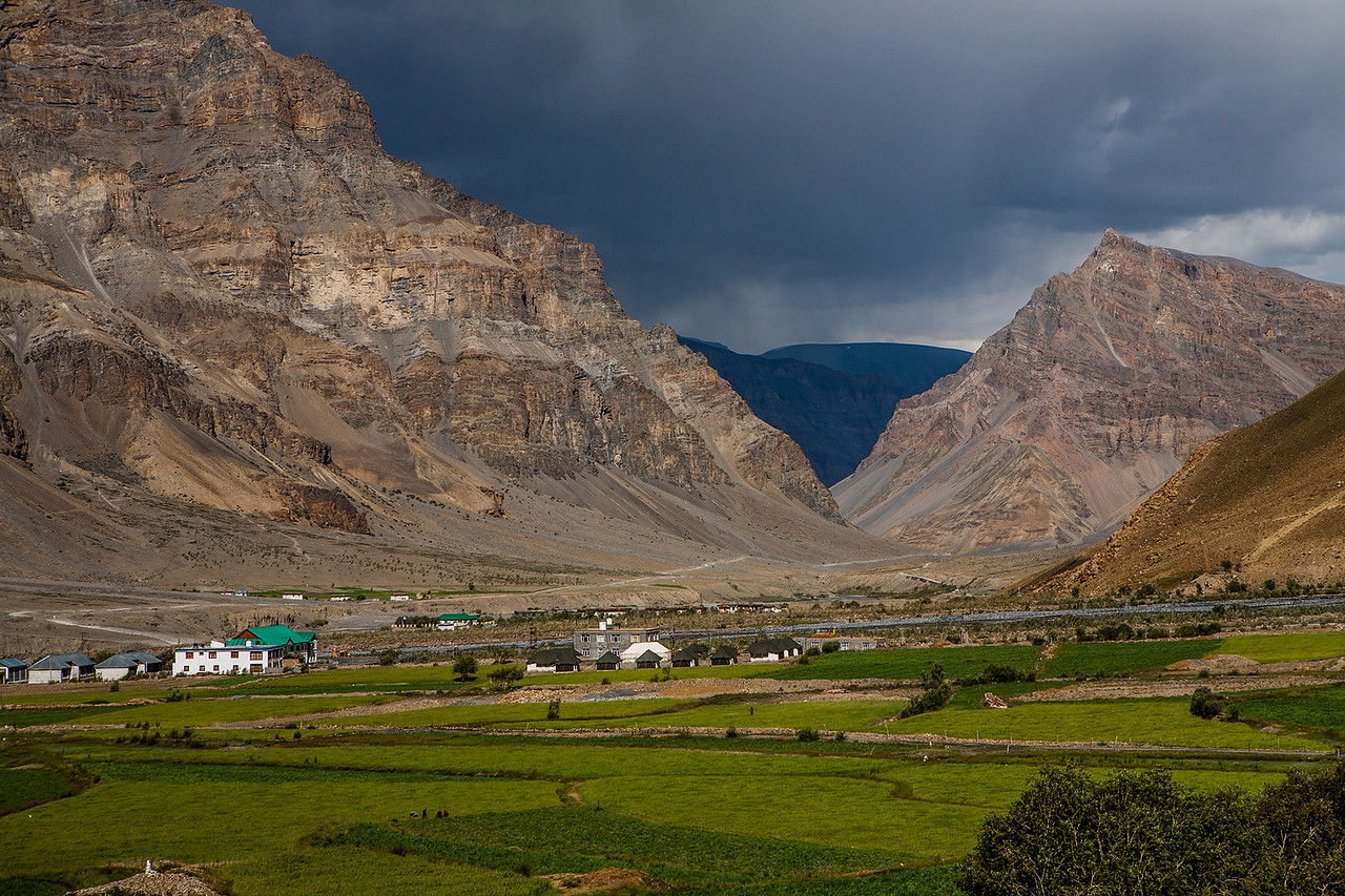 Clouds start to appear as we approach Kaza on the Manali Kaza route to Spiti valley